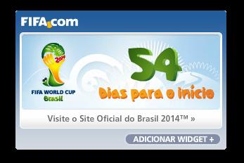 Widget contagem regressiva para copa no Brasil de 2014.