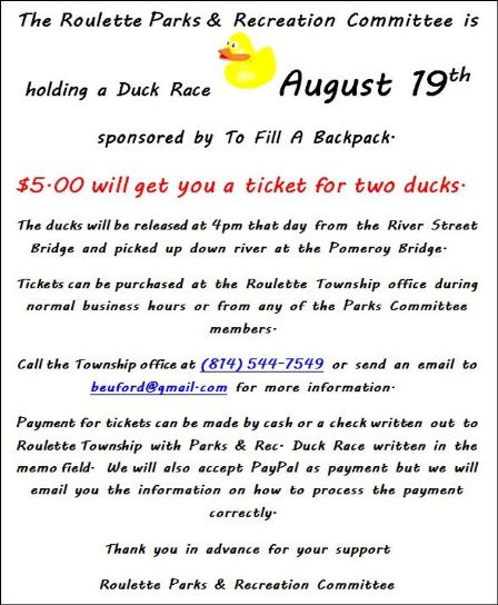 8-19 Roulette Duck Race