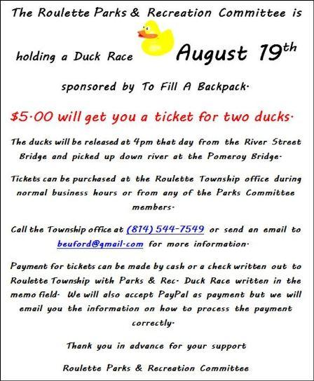 8-19 Roulette Duck Race