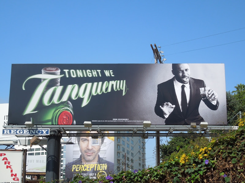Idris Elba Tonight we Tanqueray gin billboard