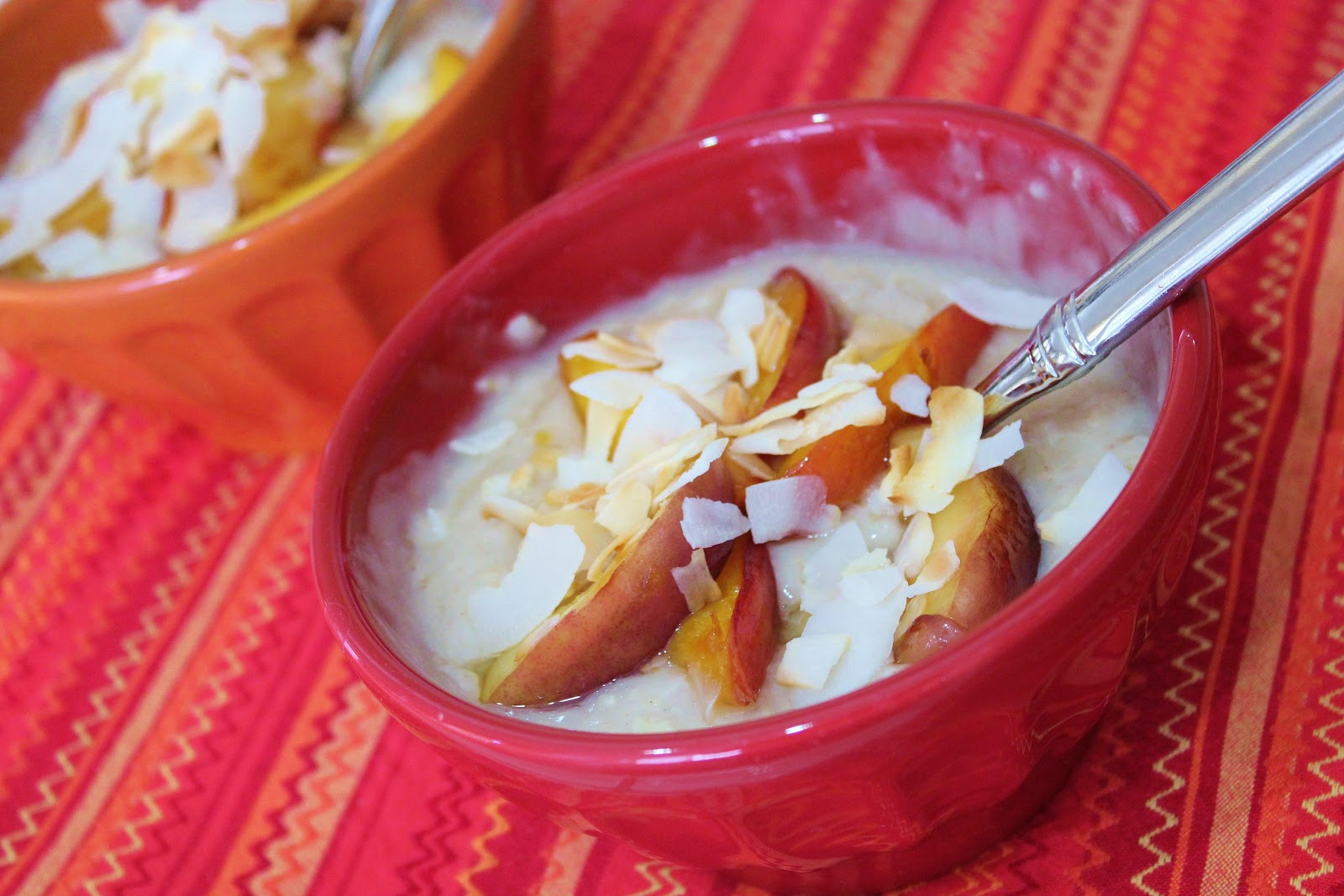 ... : {Foodie Week} Coconut Breakfast Pudding with Sauteed Nectarines