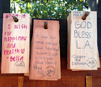 Wishes at the Griffith Park Teahouse, July 24, 2015