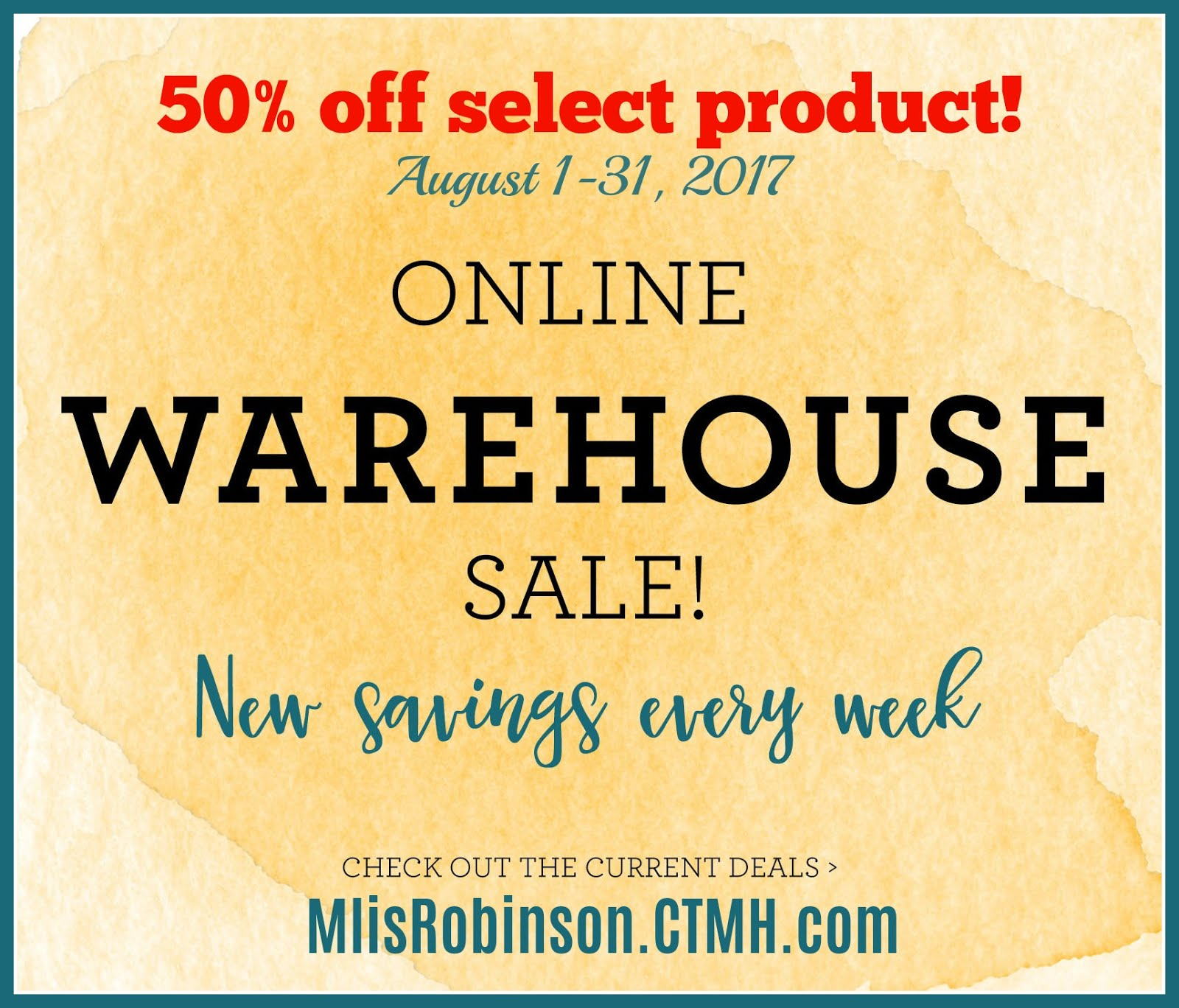 Warehouse Sale ALL MONTH LONG!