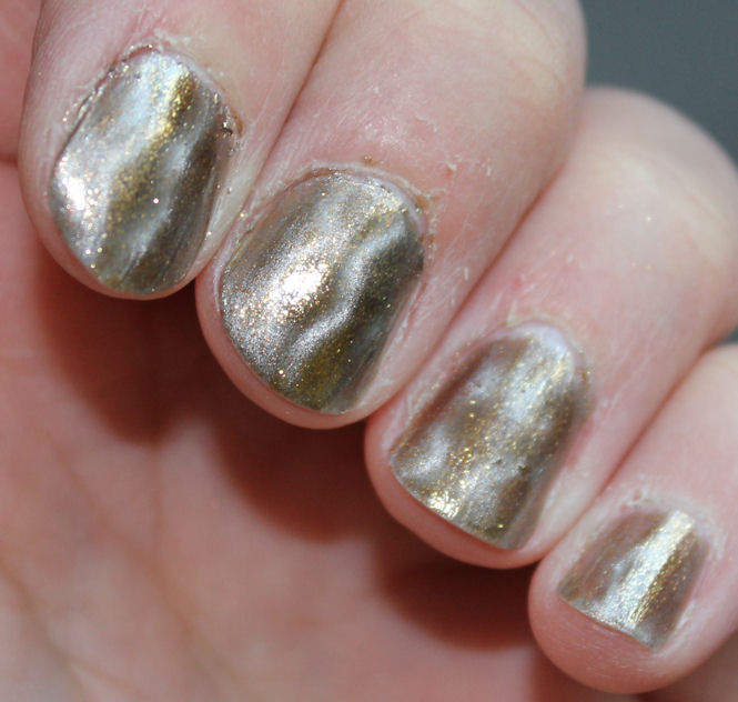 Painted: OPI Bond... James Bond Magnetized nail polish swatch