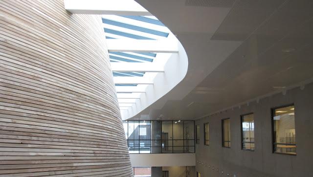 esta fachada orgnica revestida con estrechas lamas de madera de alerce el edificio es obra del estudio de link arkitektur