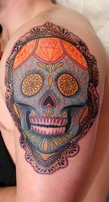 Ideias de tatuagens caveira mexicana para homens