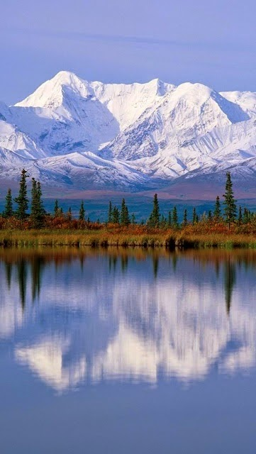 Majestic Reflections, Alaska.I want to go see this place one day