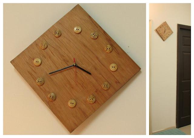 Wall+Clock+wooden