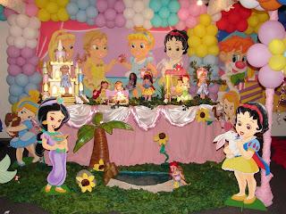 Fiestas Infantiles Princesas Bebes, parte 1