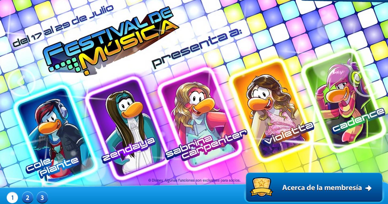 Club Penguin - Festival de Música 2014 Nuevos personajes