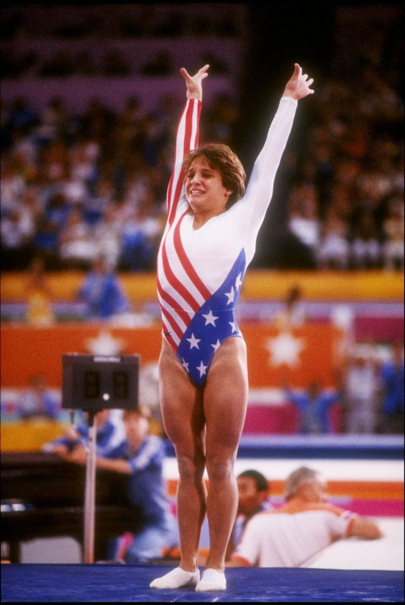 ... : Mary Lou Retton gymnast and Olympic performance Photo shoots