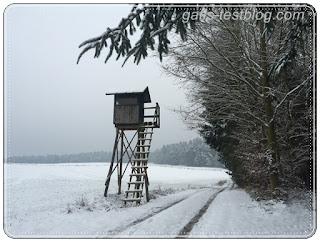 Jägerstand im Winter