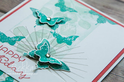 Kinda Eclectic Butterfly Birthday Card using supplies from Stampin' Up! UK