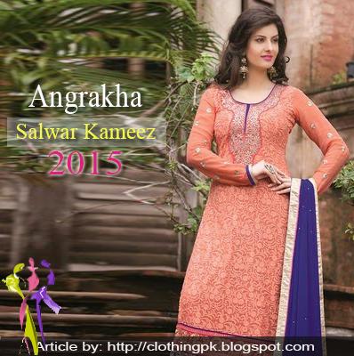 Angrakha Designs Embroidered Shalwar Kameez Suits 2015
