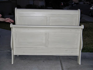 Creamy White Queen Bed  *SOLD*