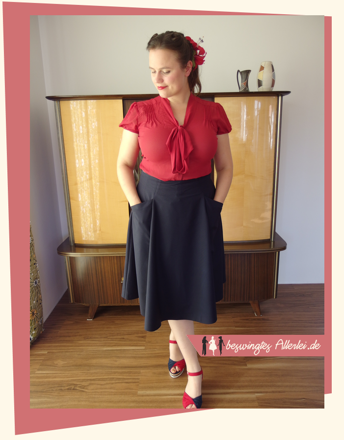 Burdastyle, Rock, Bahnenrock, hohe Taille, Skirt