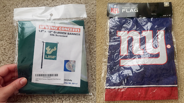 USF and New York Giants flag