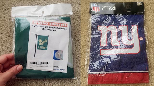 USF and New York Giants flag