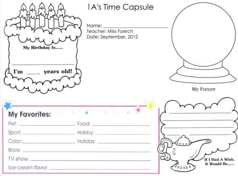 {Time Capsule Worksheet Sharebrowse – Time Capsule Worksheet