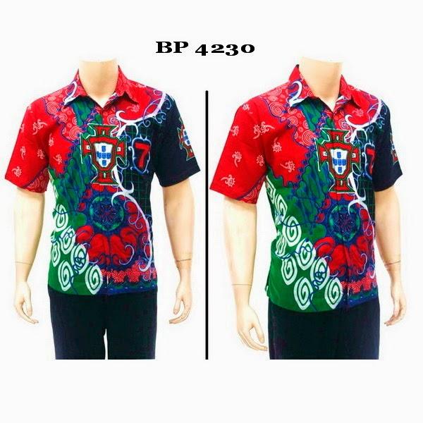 Baju Batik Hem Bola