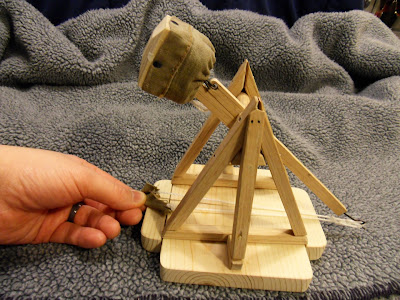 Wood Desktop Scale Trebuchet