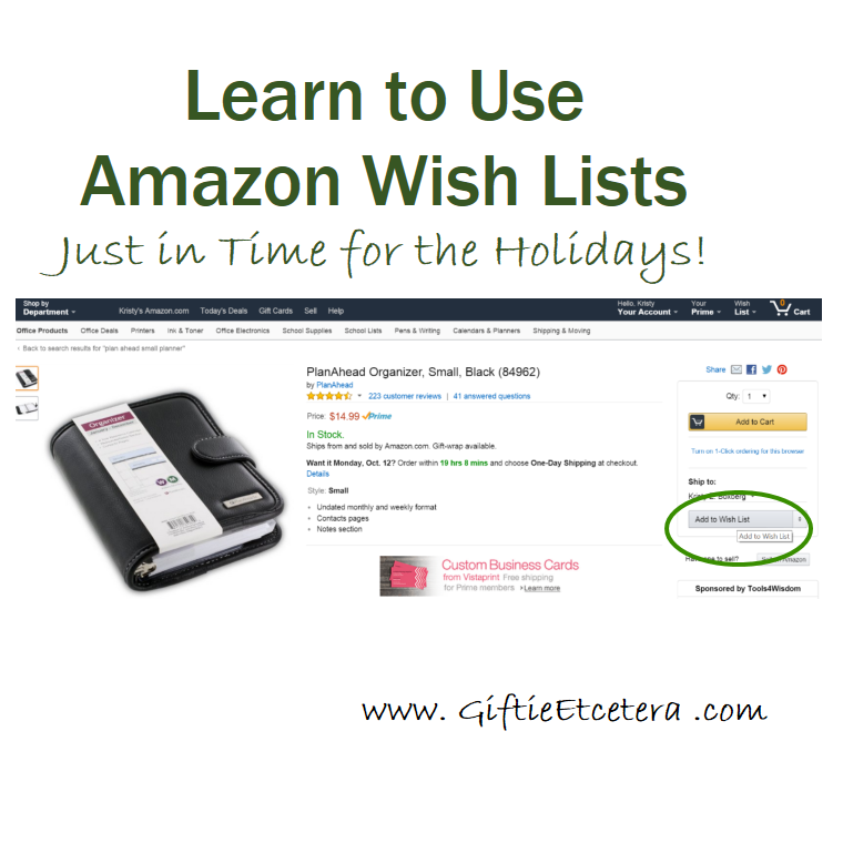 how to make a christmas wish list on amazon