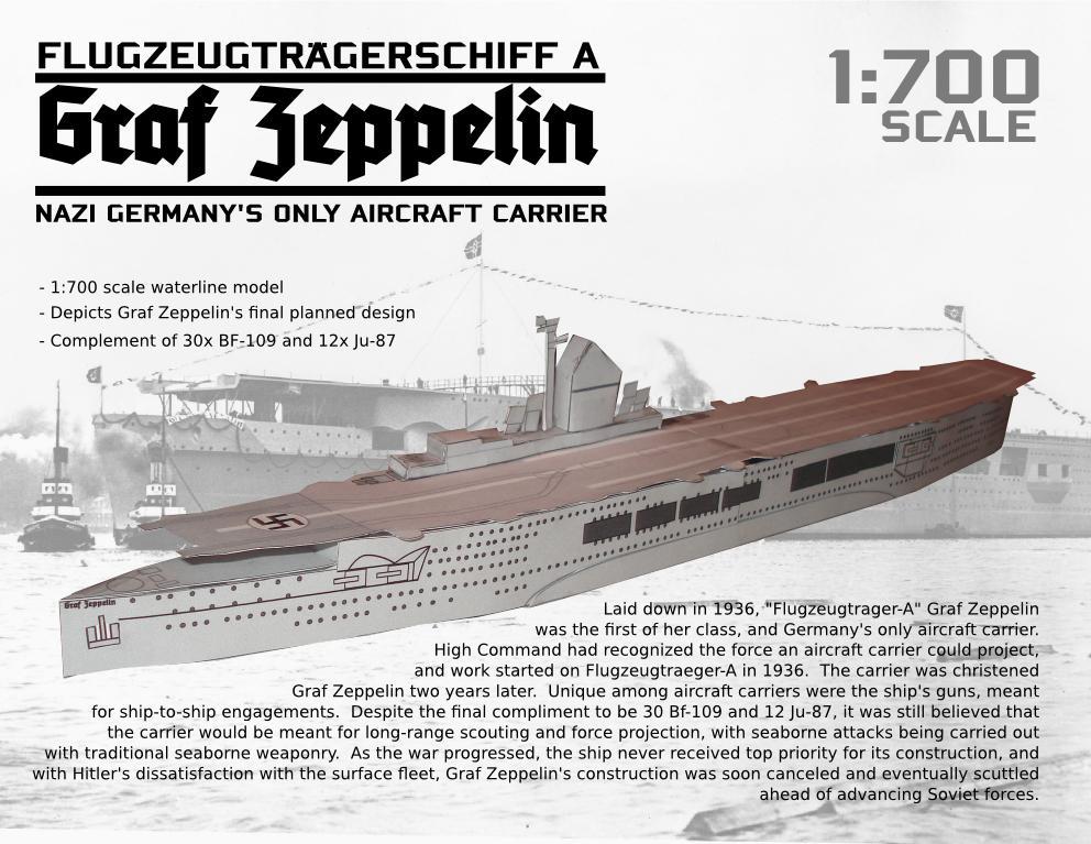 Nazi Aircraft Carrier Graf Zeppelin Papercraft
