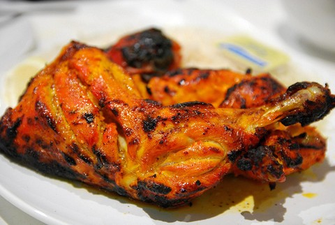 Spicy Indian tandoori chicken