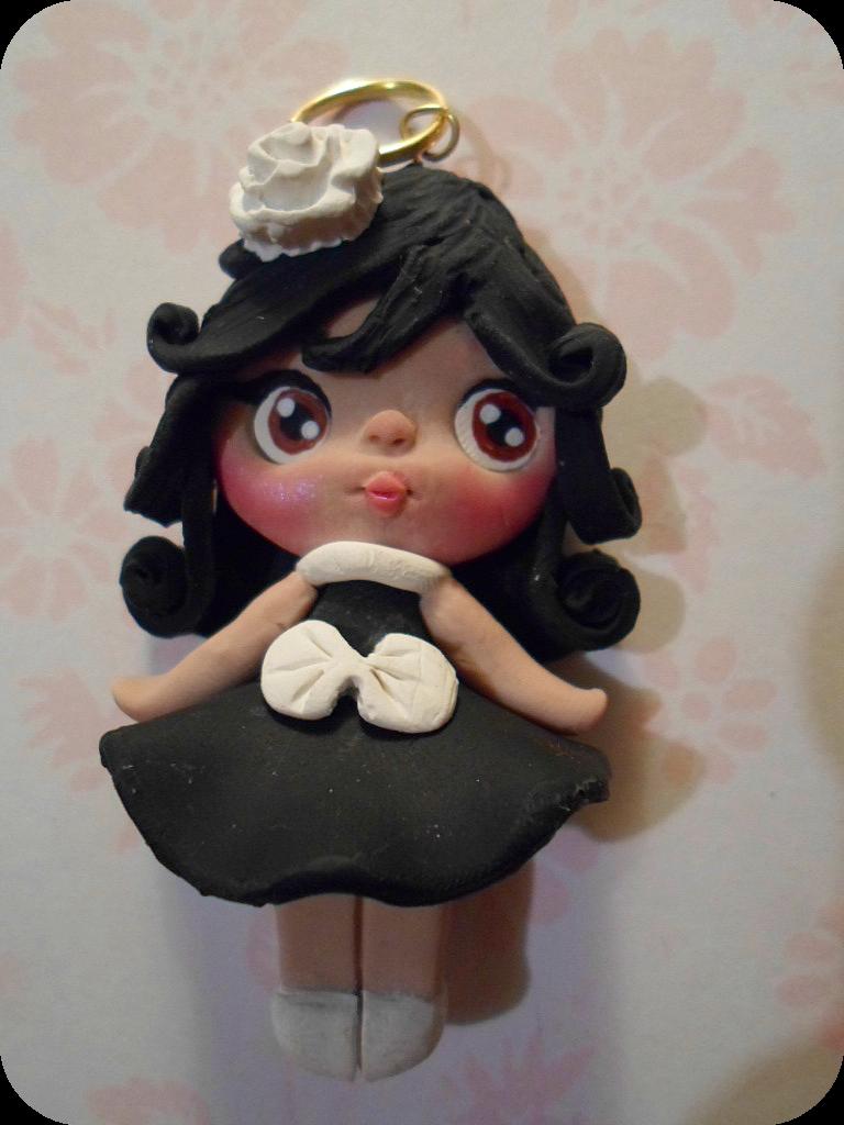 Polymer Clay Doll Charm