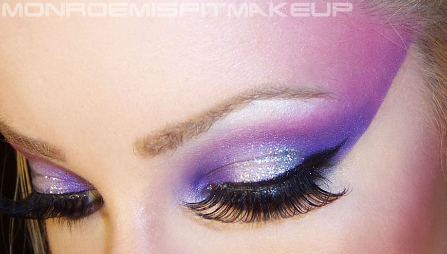 Misfit Makeup : Beauty Blog: FOTD: Blackheart Beauty : 80u0026#39;s glam rock ...