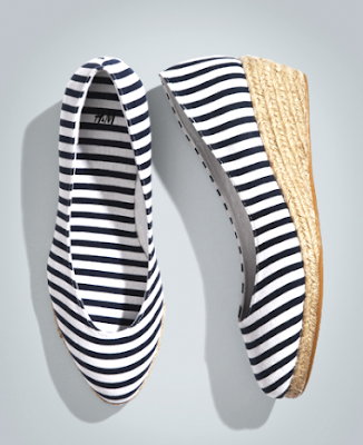 nautical summer shoes with stripes