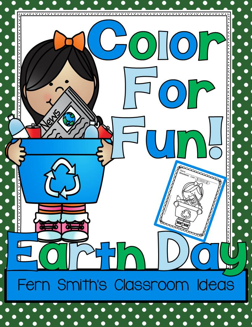 fern u0027s freebie friday u0027s free color for fun earth day fern