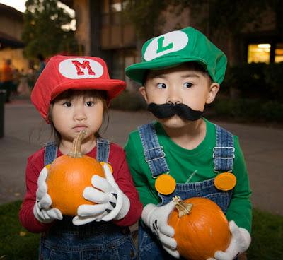Cosplay Mario e Luigi Crianças