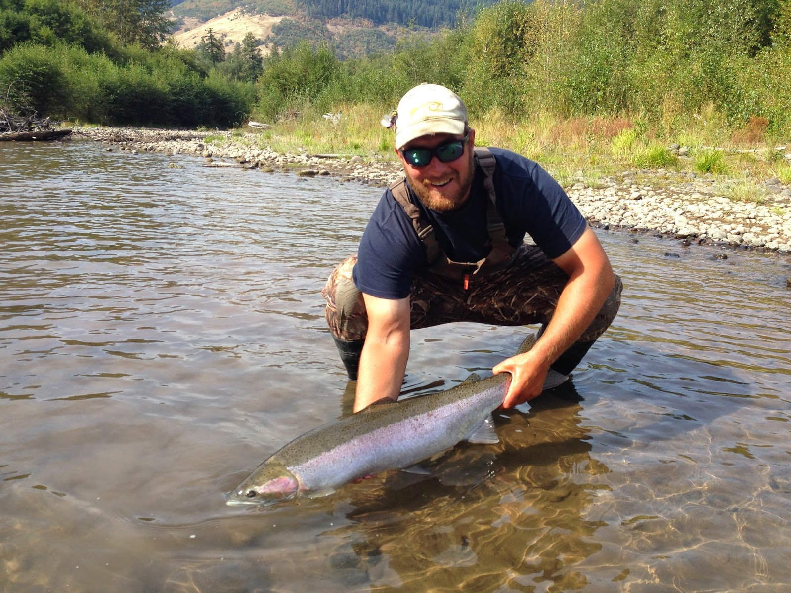 The evening hatch reports klickitat river report 9 18 14 for Klickitat river fishing report