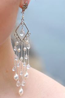 bridal earrings chandelier