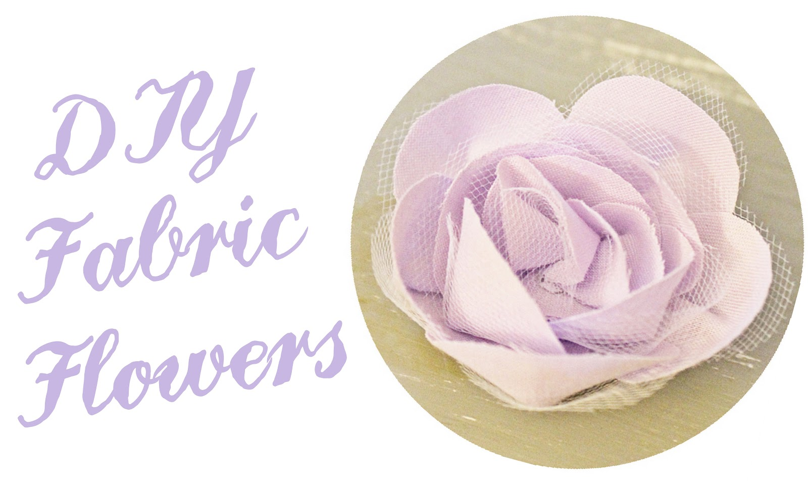 DIY Fabric Flowers Linen Lace Love