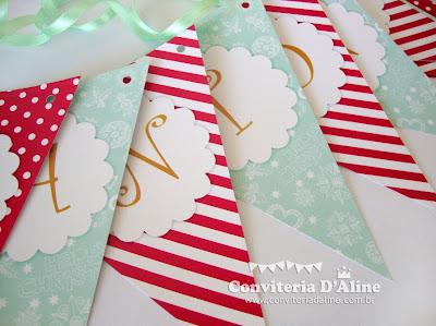 bandeirolas guirlanda feliz natal