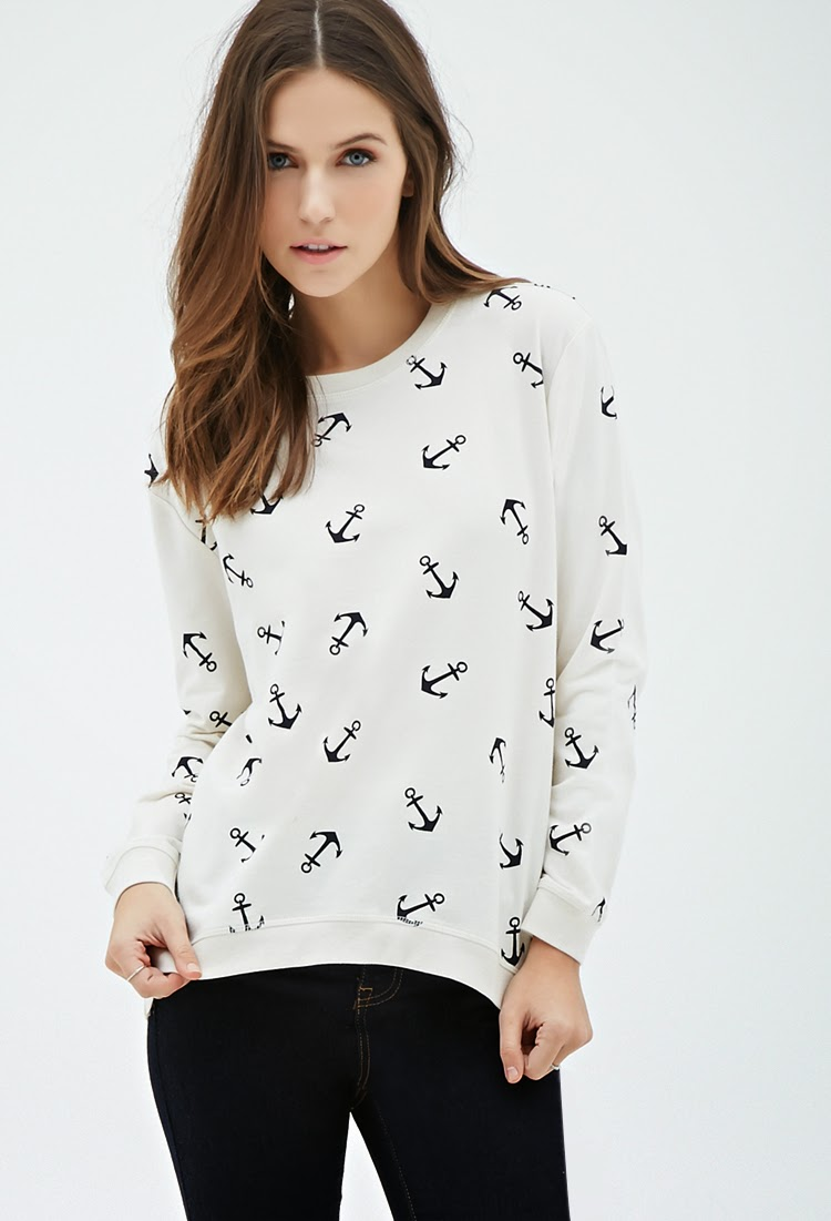 forever 21 nautical anchor sweatshirt