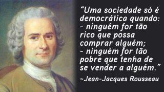 Rousseau citação pobres corrupção