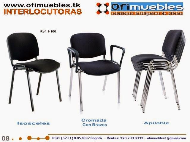 Sillas interlocutoras y fijas sillas para oficina for Sillas para oficina bogota