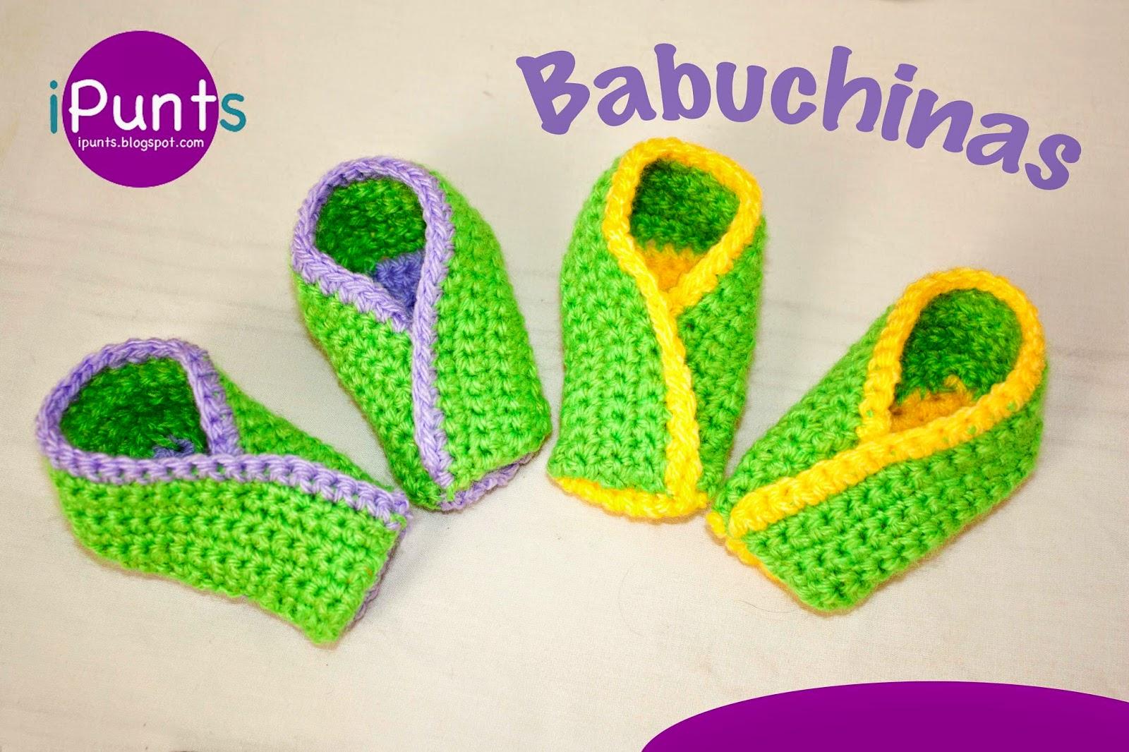 babuchinas zapatillas crochet ganchillo patron