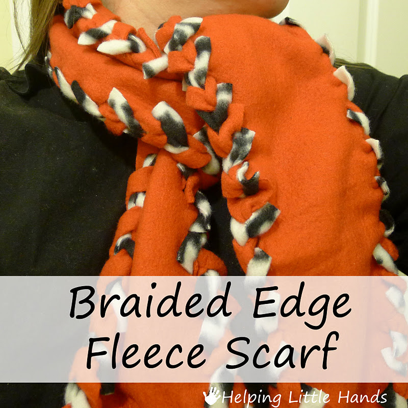Pieces by Polly: Tutorial: No-Sew Braided Edge Double Layer Fleece Scarf