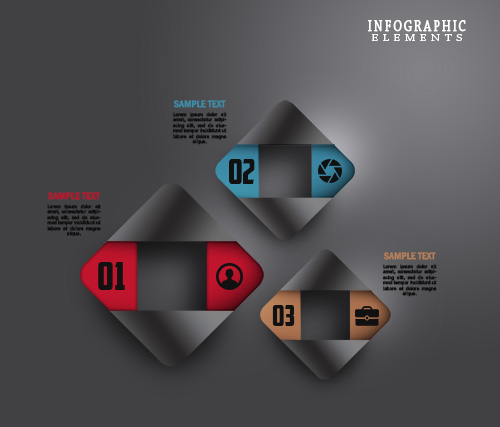 Free PSD Abstract Paper Infographic Elements