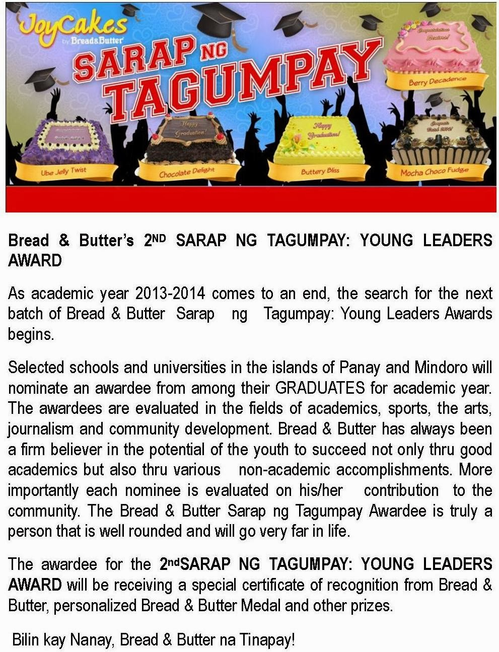 2nd Sarap ng Tagumpay: Young Leaders Award