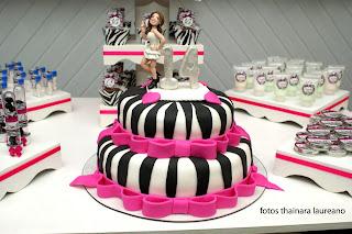 bolo zebrinha com pink