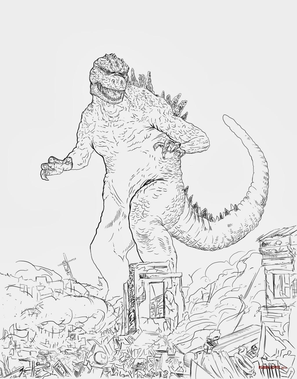 Dorable Colorear Godzilla Galería - Ideas Creativas para Colorear ...
