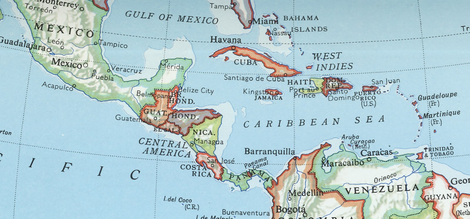 39 zien en weten 39 amerika midden caribische eilanden vlaggen en wapenemblemen deel 8 - In het midden eiland grootte ...
