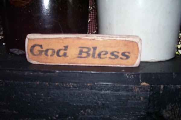 God Bless shelf talker $3.00 ea or 2/$5.00