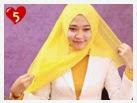 Tutorial Hijab - Cara Memakai Jilbab Paris Segi Empat Untuk Sehari-Hari
