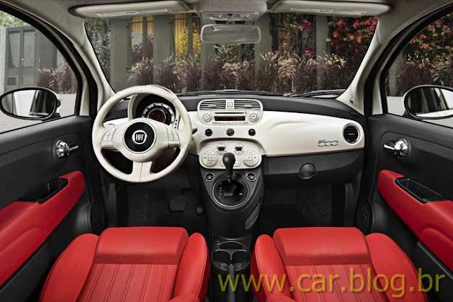 Novo Fiat 500 2012 - interior / bancos